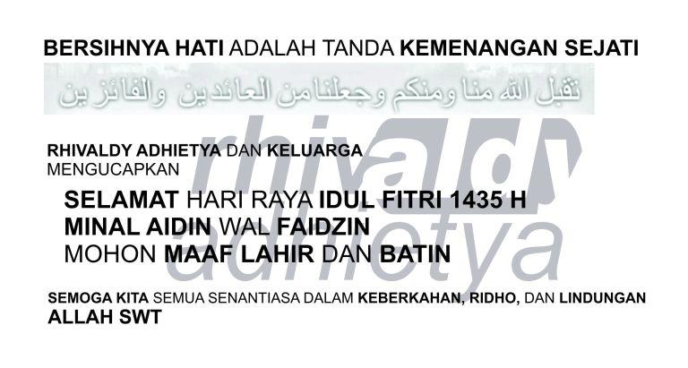 Aldy - Idul Fitri 1435 H no signature